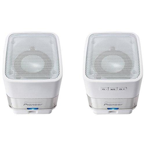 Pioneer USB-Powered Computer Speaker, White (S-MM201-W)