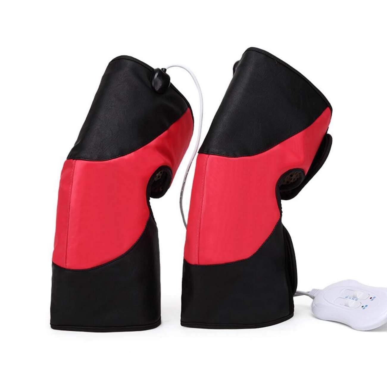 YEMEIGA Coussinets électriques de physiothérapie pour Genou Chaud thérapie par Pression des Jambes Masseur Soulagement de la Fatigue de la Cheville Arthrite Soulagement de la Douleur (Rouge)