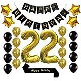 Amazon.com: Sweet 22th cumpleaños decoraciones suministros ...
