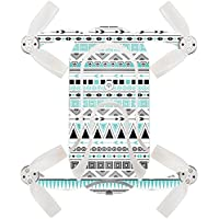 Skin For ZEROTECH Dobby Pocket Drone – Turquoise Tribal | MightySkins Protective, Durable, and Unique Vinyl Decal wrap cover | Easy To Apply, Remove, and Change Styles | Made in the USA