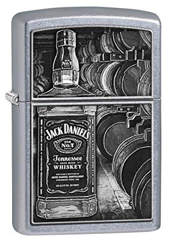 Zippo Lighter Mint - Zippo Lighter: Jack Daniels Bottle and Barrels - Street Chrome 79338