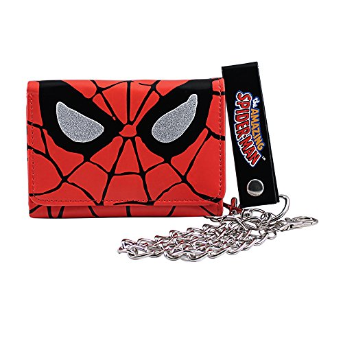 (Silver Buffalo MC7001CW Marvel Spiderman Big Face Chain Wallet)