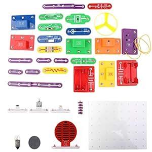 MagiDeal Electronic Discovery Kit Building Blocks Kids Children's DIY Circuits Physics Developmental Toy W-5889