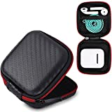 AirPods Case, 6amLifestyle Premium Zipper Hard Shell Carrying Case with Mesh Mini Pocket for Apple Wireless Earphone AirPods