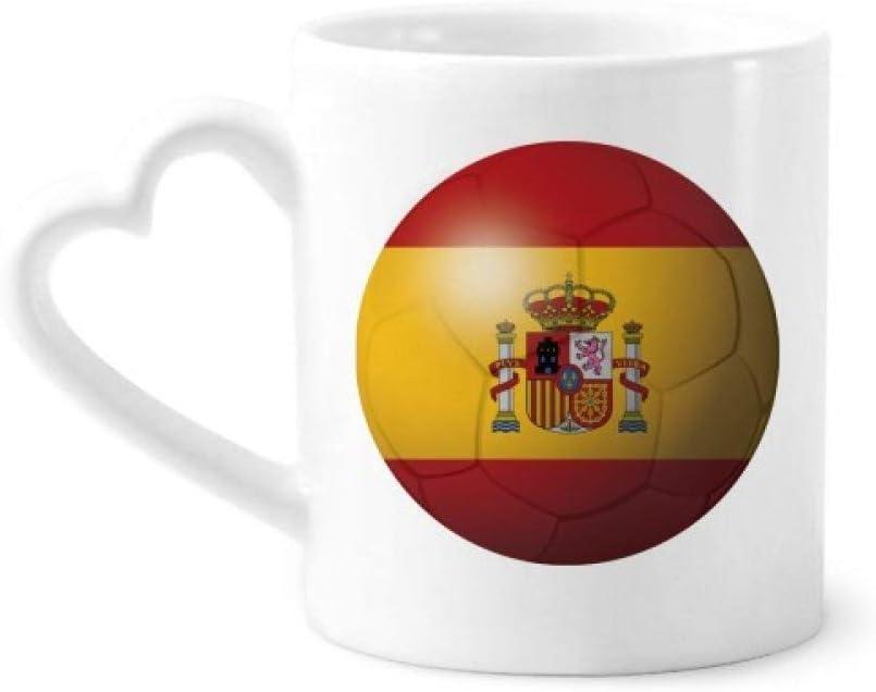 DIYthinker españa Bandera Nacional de fútbol de fútbol Tazas de café de la cerámica Taza de cerámica con la manija 12 oz Regalo del corazón: Amazon.es: Hogar