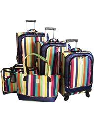 Jenni Chan 360 Quattro 5 Piece Luggage Set, Multi Stripes, One Size