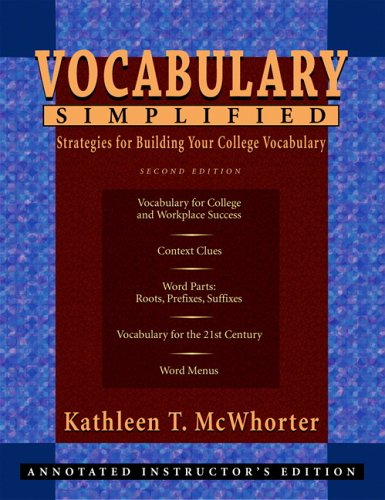 Vocabulary Simplified: Strategies for Building Your College Vocabulary (2nd Edition)