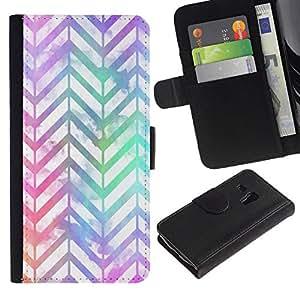 All Phone Most Case / Oferta Especial Cáscara Funda de cuero Monedero Cubierta de proteccion Caso / Wallet Case for Samsung Galaxy S3 MINI 8190 // modelo del galón blanco iridiscente púrpura