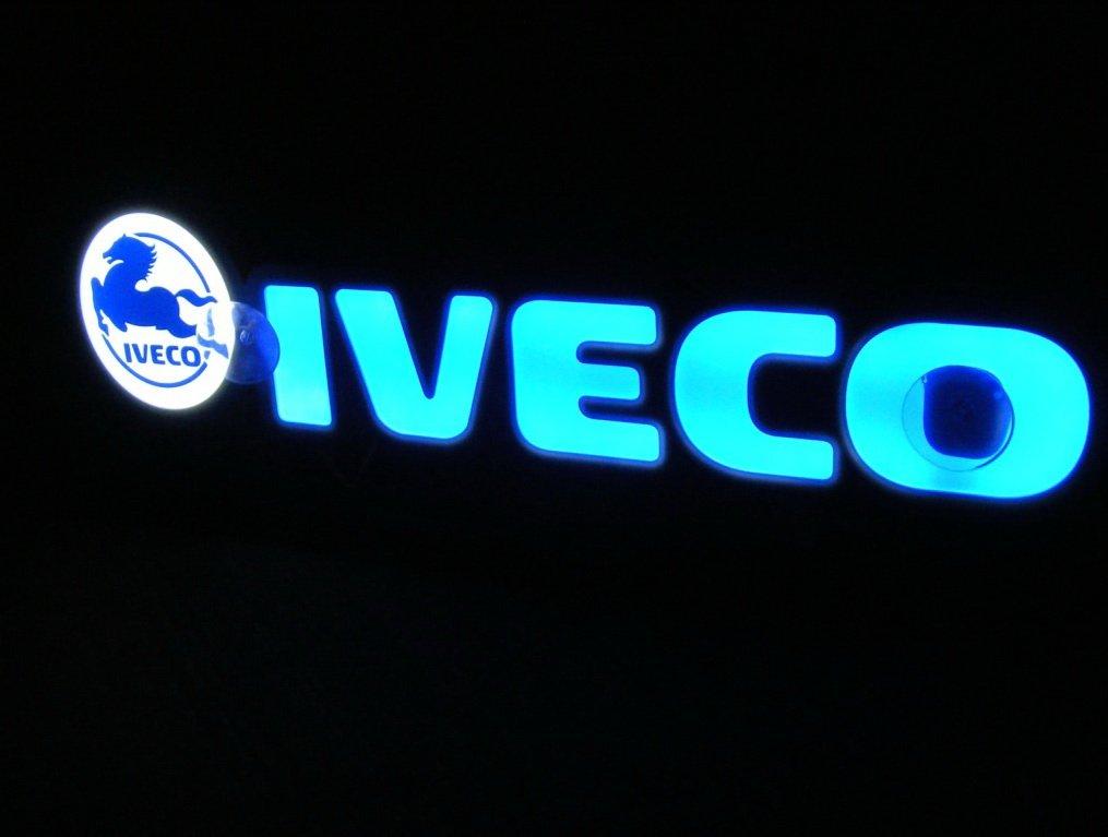 /doesn t addosso durante la guida 3D 24/V LED blu neon piastra trucker Truck logo Sign Table illuminante solo in avanti/
