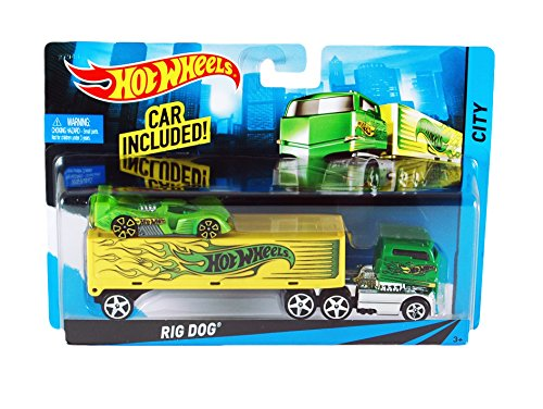 Hot Wheels City Rig Dog Toy Car Set (Hot Dog Truck Toy compare prices)