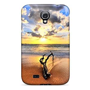 Top Quality Rugged Beach Sunset Case Cover For Galaxy S4