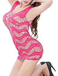 Womens Sexy Fishnet Club Mini Body Mesh Tube Bodycon Tube Dress