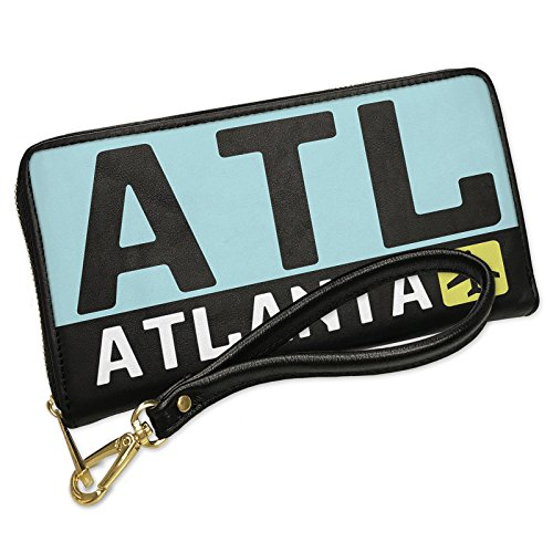 Atlanta Country Club (Wallet Clutch Airport code ATL / Atlanta country: United States with Removable Wristlet Strap Neonblond)