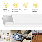 Cable Concealer On-Wall Cord Cover Raceway Kit