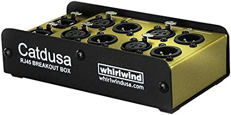 XLRF and XLRM Connectors Whirlwind Catdusa 4-Channel Analog Single CAT5 Snake Box