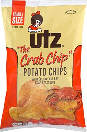 Utz Potato Chips - Utz Potato Chips, The Crab Chip, Family Size, 9.5 oz, (pack of 3)