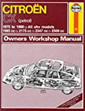 Citroen Cx (Petrol)1975-88 Owner's Workshop Manual (Service & Repair Manuals)