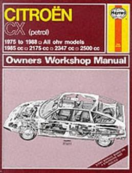 citroen cx petrol 1975 88 owner s workshop manual service repair rh amazon com Haynes Repair Manual 1991 Honda Civic Vehicle Repair Manuals