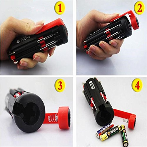 8 in 1 Multi-Screwdriver Set With LED Torch - 8