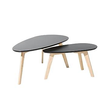 Tables Basses Lot De 2 Tables Dappoint Noir Fly Ii