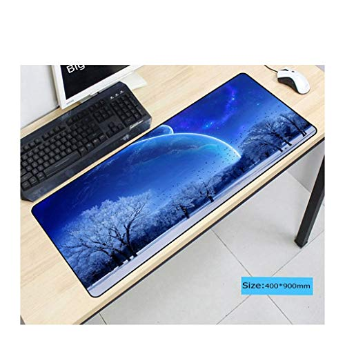 Mouse Pad White Snow Globe Versized Mouse Pad Non-Slip Gaming Rubber Pad Suitable for Home Office Internet Cafes,40X70Cm ()