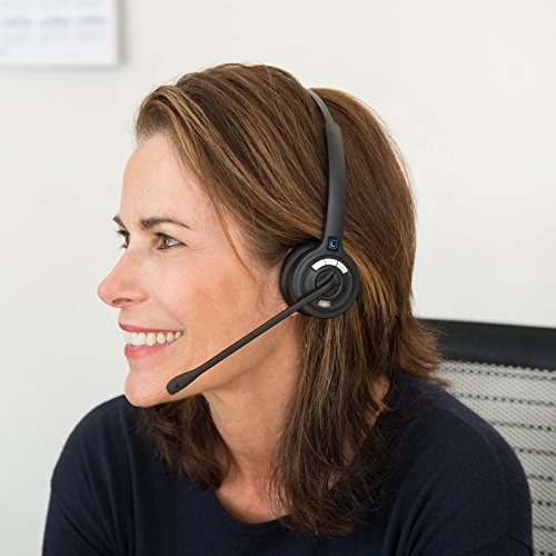 Leitner LH270 Single-Ear Wireless Telephone Headset for Office Phones