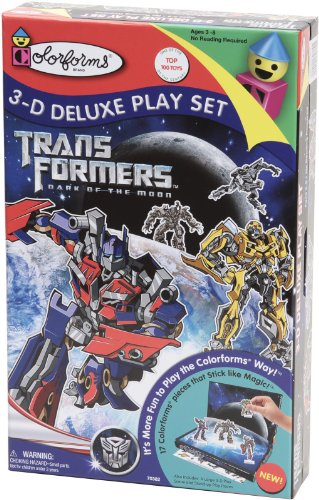 Colorforms 3D Deluxe Play Set Transformers - Dark of the Moon
