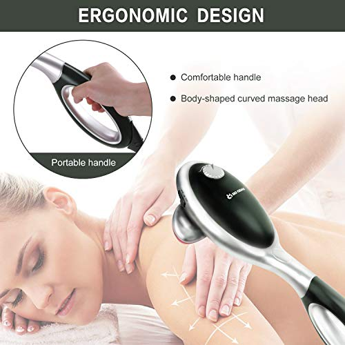 Percussion Back Massager with Heat - Electric Handheld Massager - Deep Tissue Massage for Back, Shoulder, Neck, Leg and Foot - Christmas Gift for Men, Women, Dad, Mom, Family - Relief Muscle Fatigue