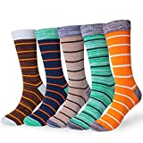 Men's Fun Dress Socks Colorful Funky Patterned Cotton Crew Socks