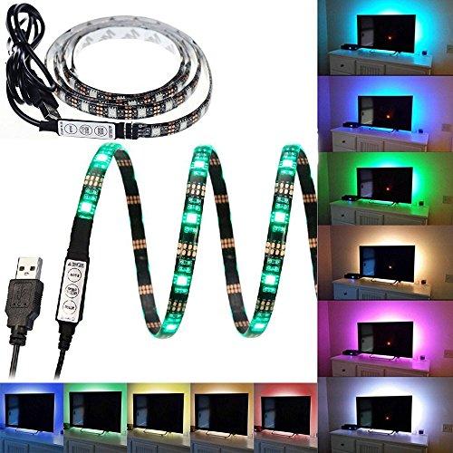 Bias Lighting for HDTV USB Powered TV Backlighting Home Theater Accent lighting, Smartdio 35.4