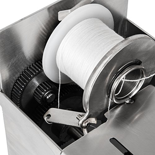 Happybuy Manual Sausage tying knotting machine 42mm Handle Sausage casings  binding machine stainless steel for commercial home use (42mm with 5pcs