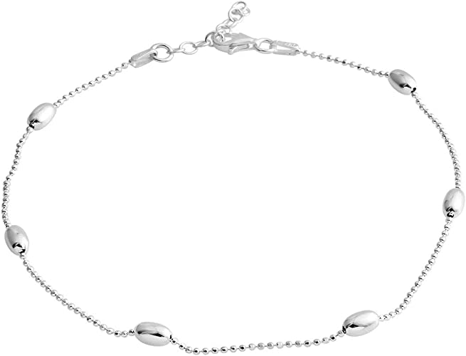 Star Anklet Layering Anklet Thin Anklet Sterling Bead Anklet Double Chain Anklet Foot Ankle Jewelry Anklet Gift Women Beach Girl Anklet