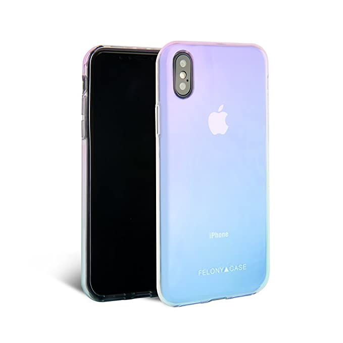 online retailer 47dc1 8d6b4 iPhone X/XS Case, iPhone 10 Case, FELONY CASE - Protective Shock-Absorbing  Stylish Reflective Holographic Case for iPhone X/XS, iPhone 10 (Holographic  ...