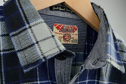 Tokyo À Chemise Profondeurs Bleues Laundry Homme En Par Flanelle 'carlsson' Pour Carreaux Imprimée 7tt0rOP