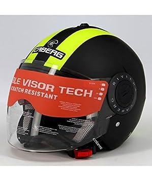 Caberg Riviera V2 + hi-vizion Open Face casco de moto negro/Fluo