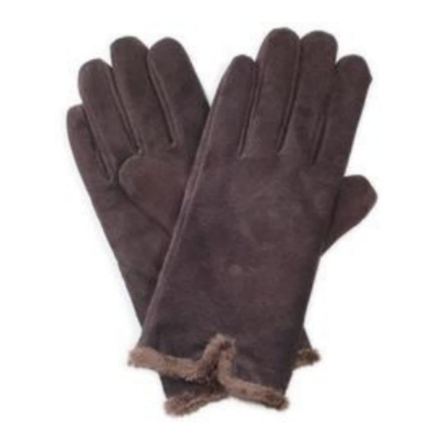 Ladies leather gloves isotoner - Isotoner Womens Brown Suede Leather Gloves With Back Vent Microluxe Lining L At Amazon Women S Clothing Store Cold Weather Gloves