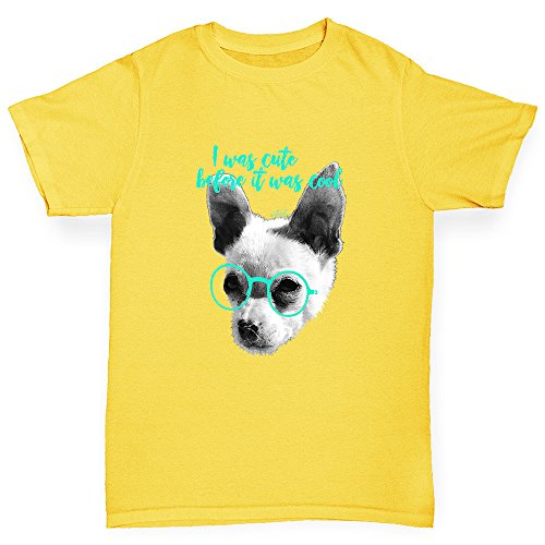 TWISTED ENVY Kids Funny Tshirts I Was Cute Before It Was Cool Girl's T-Shirt Age 9-11 - Joke Massive Sunglasses