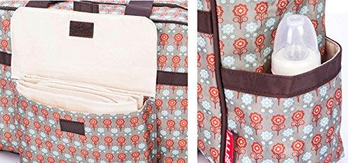 Allis Fashion Tote Bolso cambiador (Rojo/Gris)