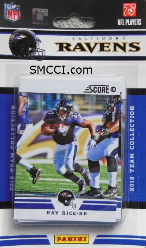 2012 Score Baltimore Ravens Factory Sealed 12 Card Team Set Including Joe Flacco, Ray Lewis, Ray Rice, Ed Reed, Haloti Ngata, Anquan Boldin, Terrell Suggs, Torrey Smith, Ricky Williams, Bernard Pierce, Courtney Upshaw and Tommy Streeter.