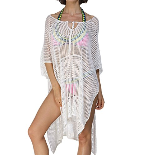 Papaya Fishnet Hollow out Pullover Cover up