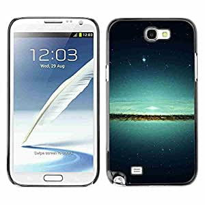 Shell-Star ( Lake & Stars ) Fundas Cover Cubre Hard Case Cover para Samsung Galaxy Note 2 II / N7100