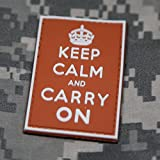 Keep Calm and Carry On Morale Patch - Orange