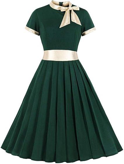 Wawer - Vestido de noche formal para mujer, estilo vintage de los ...