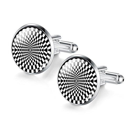 Fashion Cufflinks for Men Cool Men's Cufflinks Valentine's Day Gifts for Boyfriend