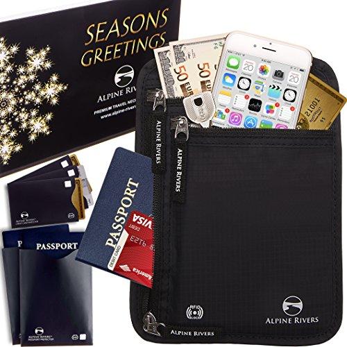 neck-wallet-travel-pouch-passport-holder-rfid-blocking-5-extra-bonus-sleeves