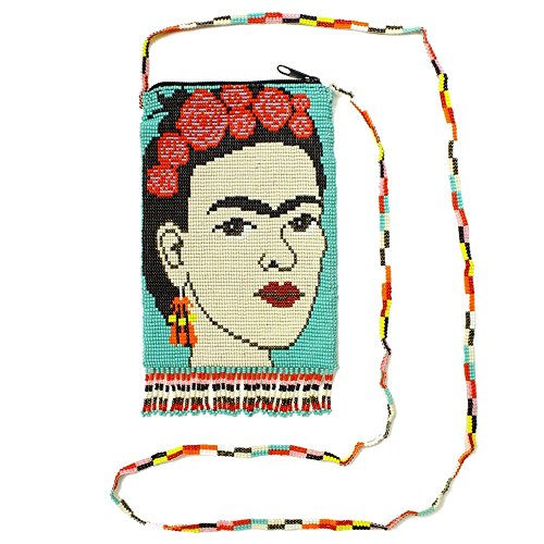 "BG710 Rare Purse Glass Beaded Bag Frida Kahlo Design Guatemala Artisan Made New from ""Handmade"""