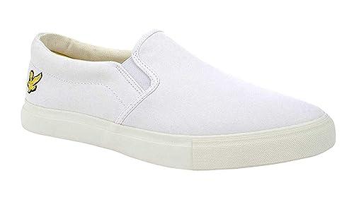 Lyle & Scott - Zapatillas de Lona para Hombre Blanco Blanco, Color Blanco, Talla