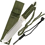 Cheap Ace Martial Arts Hunting Knife with Fire Starter