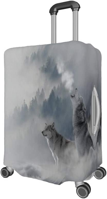 Luggage Case Wolves Snow Fog Mountain Printing Luggage Cover Suitcase Protector Cover Elastic Suitcase Cover Spandex white l 25-28 inch
