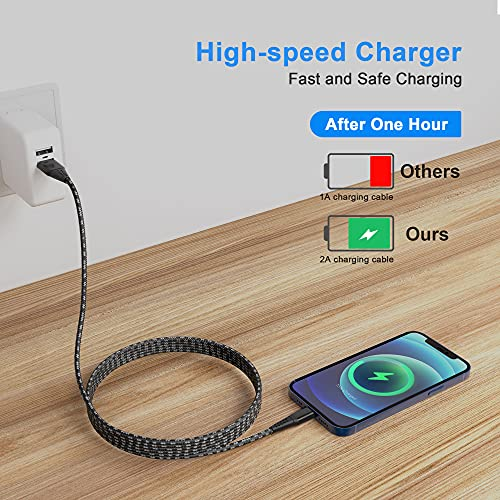 iPhone Charger 20FT/6M [Apple MFi Certified] Lightning Cable Extra Long iPhone Charging Cord Nylon Braided Fast Apple Charger Cable 2.4A for iPhone 12 11 Pro X XS Max XR/8 Plus/7 Plus/6/6s Plus